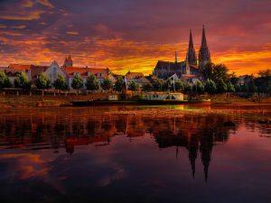 regensburg-germany-sunset-cityscape